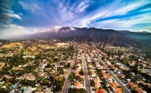 Duarte, CA aerial view